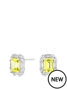 simply-silver-sterling-silver-yellow-cubic-zirconia-emerald-cut-earrings