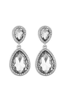 mood-silver-plated-double-pear-crystal-drop-earrings