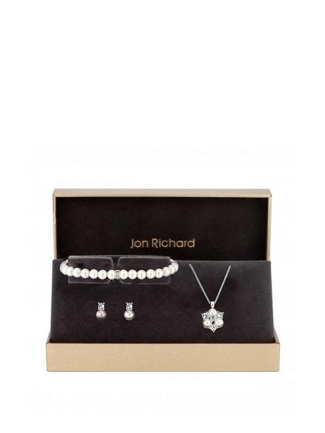 jon-richard-silver-plated-clear-crystal-pearl-and-crystal-cluster-trio-gift-boxed