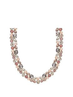 mood-silver-plated-tonal-pink-mix-shape-encrusted-collar-necklace