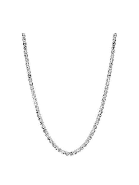 mood-silver-plated-crystal-choker-necklace