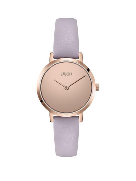 hugo-cherish-leather-strap-watch