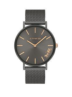 coach-coach-perry-black-dial-black-mesh-strap-watch