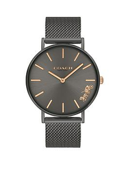 coach-coach-perry-black-dial-black-mesh-strap-watch