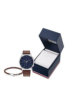 tommy-hilfiger-tommy-hilfiger-blue-multi-dial-brown-leather-strap-watch-bracelet-gift-set