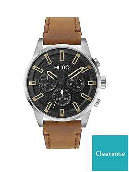 hugo-hugo-seek-black-chronograph-dial-tan-leather-strap-watch