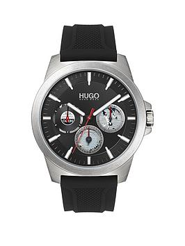 hugo-twist-black-multi-dial-black-silicone-strap-mens-watch