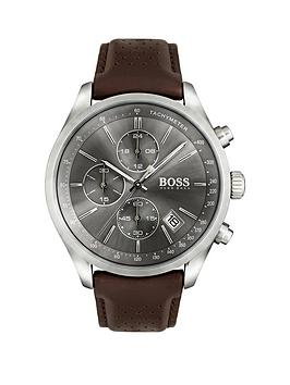 boss-grand-prix-grey-chronograph-dial-brown-leather-strap-watch