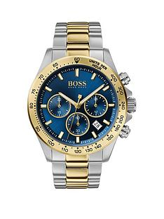 boss-boss-hero-blue-chronograph-two-tone-dial-stainless-steel