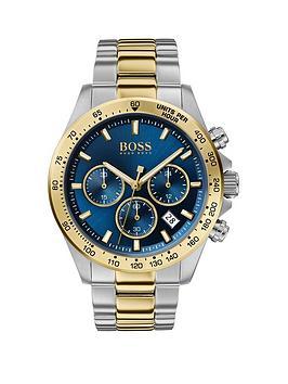 boss-hero-sport-blue-chronograph-dial-two-tone-stainless-steel-braceletnbspmens-watch