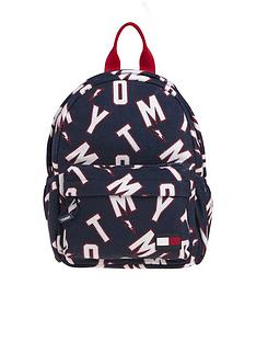 tommy-hilfiger-kids-logo-print-mini-backpack-navy