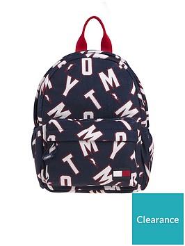 tommy-hilfiger-kids-logo-print-mini-backpack-navy