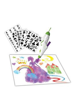 lexibook-aerograph-electronic-spray-marker-with-stencils-and-pens