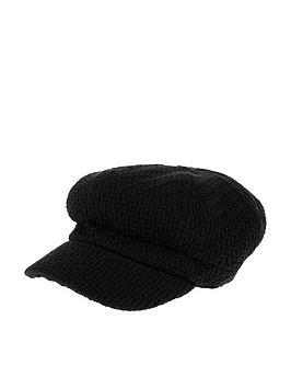 accessorize-textured-baker-boy-hat-black