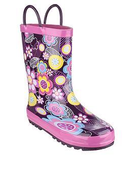 cotswold-girls-flower-wellington-boots