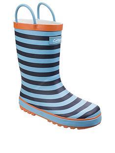 cotswold-boys-blue-stripe-wellington-boots