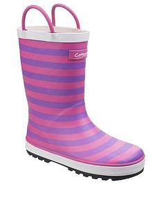 cotswold-girls-pink-stripe-wellington-boots