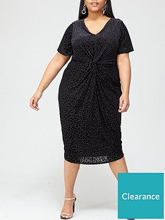 v-by-very-curve-leopard-burnout-angel-sleeve-dress-black