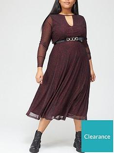 v-by-very-curve-printed-mesh-midi-dress-redanimal