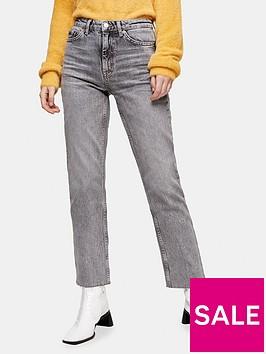 topshop-straight-leg-jeans-grey