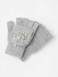 accessorize-pearl-capped-glove-grey