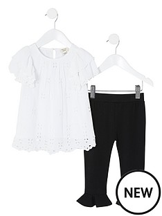 river-island-mini-girls-embroidered-top-and-legging-set--nbspwhite