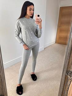 michelle-keegan-longline-sweat-topnbspampnbsplegging-lounge-set-grey-marl