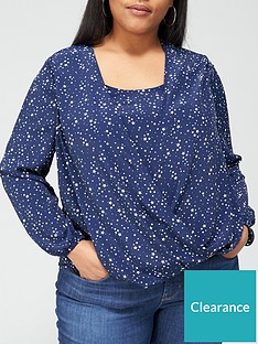 v-by-very-curve-wrap-cami-insert-blouse-star-print