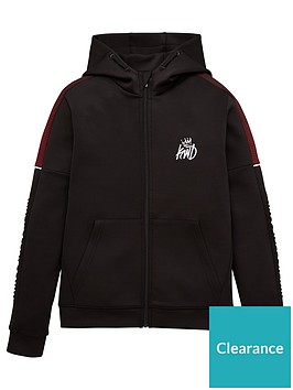 kings-will-dream-boys-nisha-grid-zip-through-hoodie-black