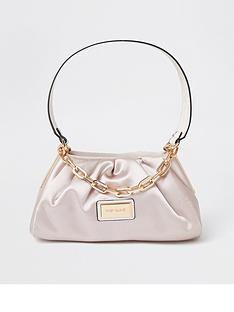 river-island-satin-rouched-chain-detail-underarm-bag-pink