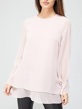 v-by-very-georgette-double-layer-blouse-blush