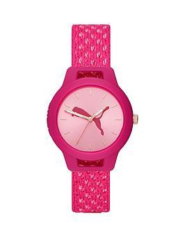 puma-reset-pink-dial-pink-woven-watch