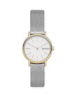 skagen-signatur-white-dial-stainless-steel-watch