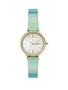 skagen-anita-white-dial-blue-leather-strap-watch