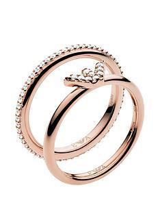 emporio-armani-rose-tone-logo-ring-stack