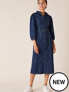 monsoon-organic-cotton-denim-midi-dress-blue