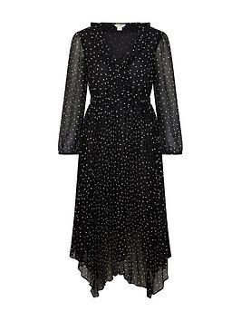 monsoon-spot-print-pleated-dress