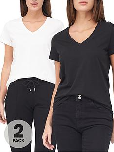 v-by-very-valuenbsp2-pack-basic-v-neck-t-shirts-blackwhite