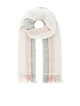 monsoon-colourblock-blanket-scarf-pink