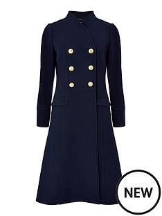 monsoon-rosaline-military-long-coat-navy