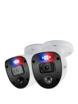 swann-smart-security-1080p-enforcer-led-flashing-light-bullet-style-add-on-analogue-cctv-camera-twin-pack-swpro-1080slpk2-eu