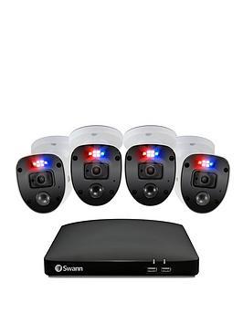 swann-smart-security-cctv-system-8-chl-1080p-1tb-hdd-dvr-4-x-pro-enforcer-camera-works-with-alexa-google-assistant-amp-swann-security-swdvk-846804sl-eu