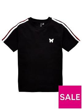 good-for-nothing-boys-taped-short-sleeve-t-shirt-black