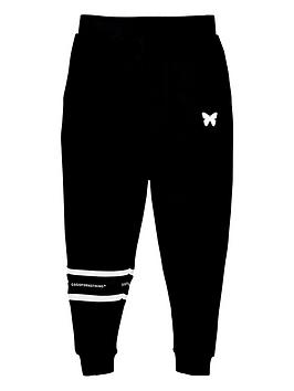 good-for-nothing-boys-taped-joggers-black