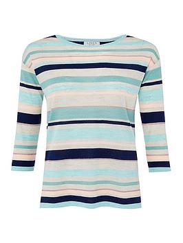 monsoon-stripe-linen-blend-jumper-blue