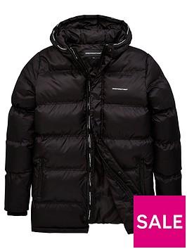 good-for-nothing-boys-murran-long-line-padded-jacket-black