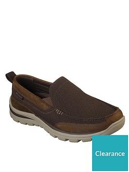 skechers-superior-milford-slip-on-shoe-brown