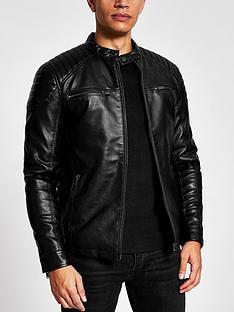 river-island-pu-racer-jacket-black