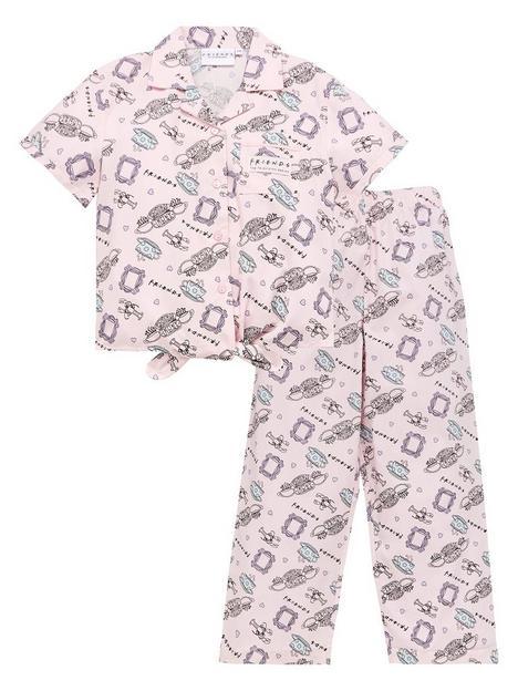 friends-girls-friends-button-through-shirt-pjs-pink