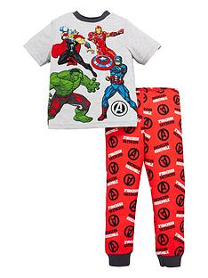 marvel-boys-marvel-avengers-short-sleeve-pjs-grey